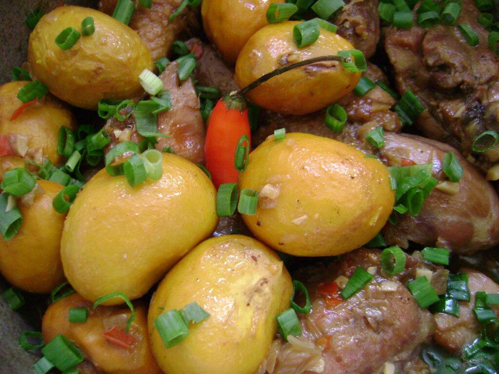imagem mostra destaque de prato com frango com pequi