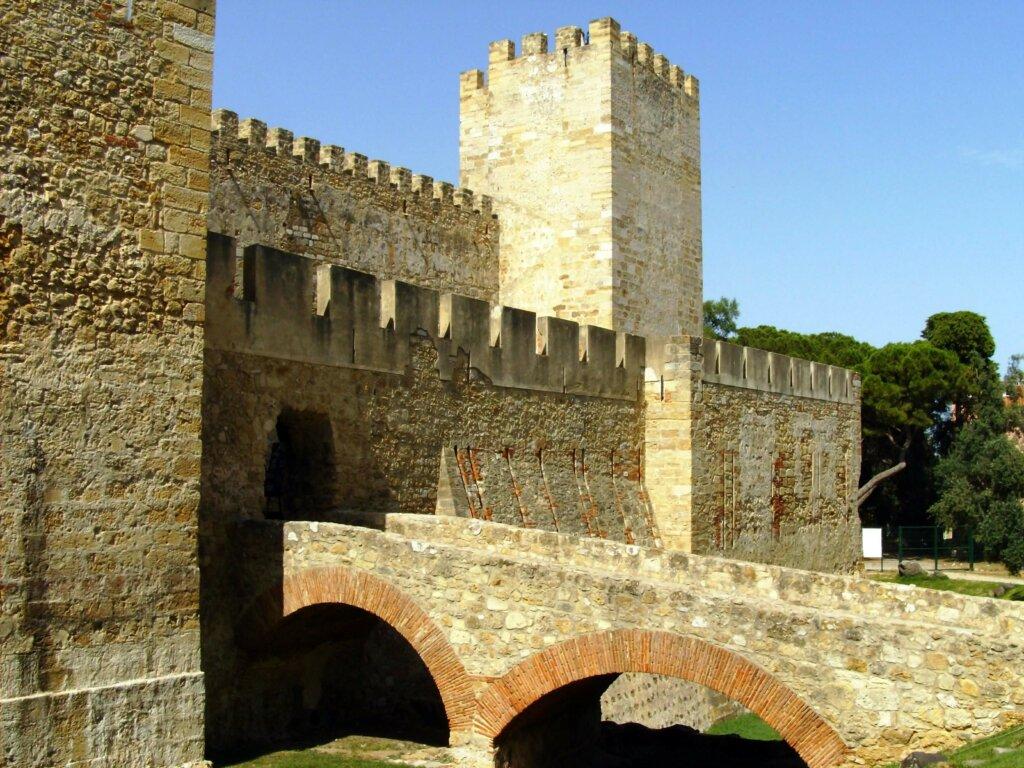 lateral de castelo da Idade Média