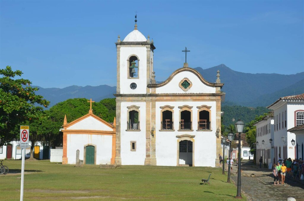 igreja de Santa Rita, em Paraty