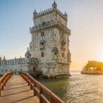 vista frontal da Torre de Belém