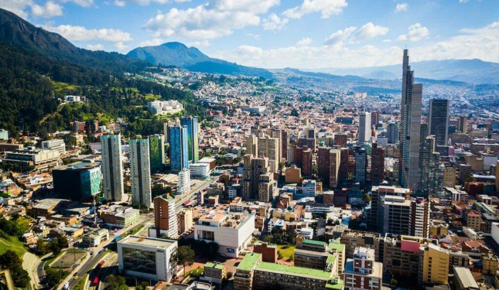 a capital Bogotá, vista panorâmica
