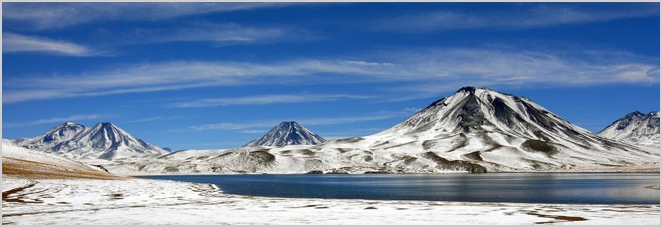 Detalhe da Cordilheira dos Andes, no Chile